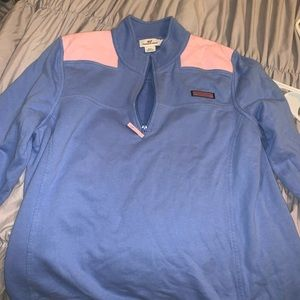 Blue and pink vineyard vines pullover